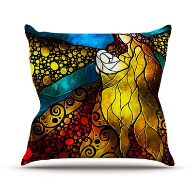 What Child Is This by Mandie Manzano Outdoor Throw Pillow
