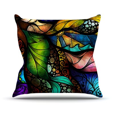 Sleep and Awake by Mandie Manzano Outdoor Throw Pillow