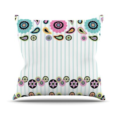 Paisley Party by Nina May Outdoor Throw Pillow
