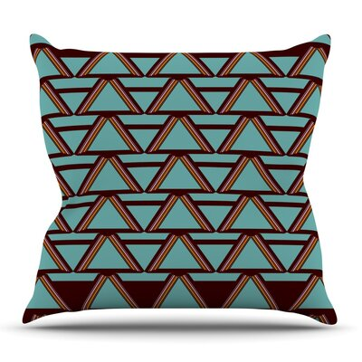 Deco Angles Choco by Nina May Outdoor Throw Pillow