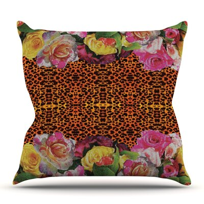 New Rose Eleo by Nina May Outdoor Throw Pillow
