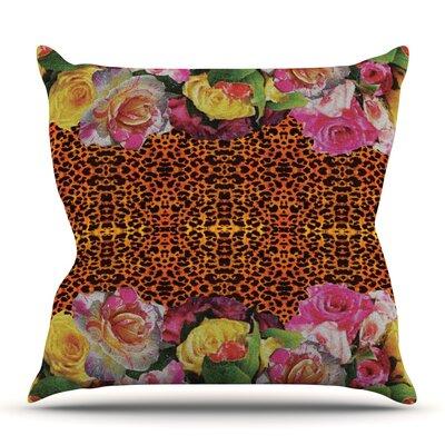 New Rose Eleo by Nina May Outdoor Throw Pillow