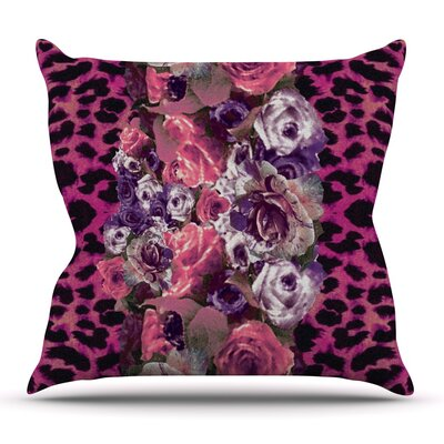 Rose Stripe by Nina May Outdoor Throw Pillow