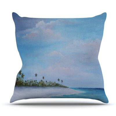 Carefree Carribean by Rosie Brown Outdoor Throw Pillow