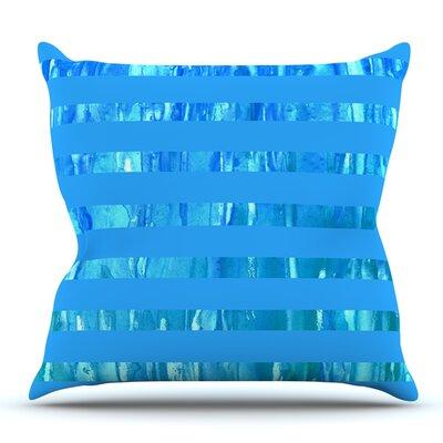 Wet Wild Stripes by Rosie Brown Outdoor Throw Pillow