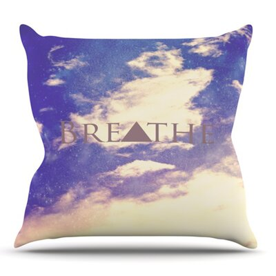 Breathe by Rachel Burbee Outdoor Throw Pillow
