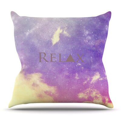 Relax by Rachel Burbee Outdoor Throw Pillow