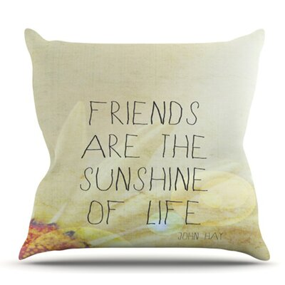 Friends and Sunshine by Rachel Burbee Outdoor Throw Pillow