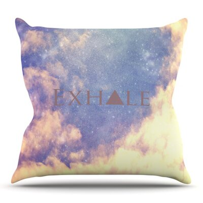Exhale by Rachel Burbee Outdoor Throw Pillow