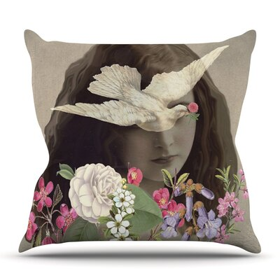 Doves Eyes by Suzanne Carter Outdoor Throw Pillow