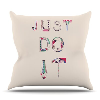 Just Do It by Vasare Nar Outdoor Throw Pillow