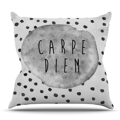Carpe Diem by Vasare Nar Outdoor Throw Pillow