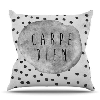 Carpe Diem by Vasare Nar Outdoor Throw Pillow