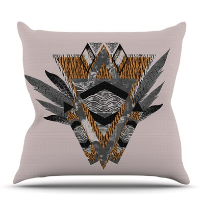 Indian Feather by Vasare Nar Outdoor Throw Pillow