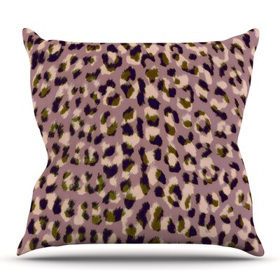 Leo Cheetah by Vasare Nar Outdoor Throw Pillow
