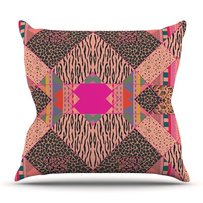 New Wave Zebra by Vasare Nar Outdoor Throw Pillow