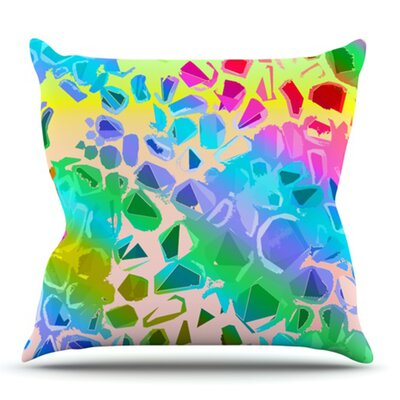 Jungle Talk by Vikki Salmela Outdoor Throw Pillow