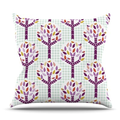 Orchid Spring Tree by Pellerina Design Outdoor Throw Pillow