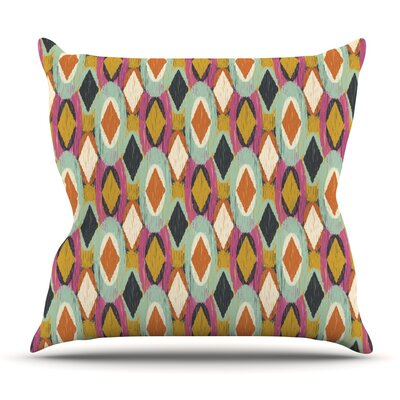 Sequoyah Ovals by Amanda Lane Outdoor Throw Pillow
