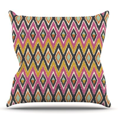 Sequoyah Tribals by Amanda Lane Outdoor Throw Pillow
