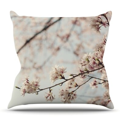 Japanese Cherry Blossom by Catherine McDonald Outdoor Throw Pillow