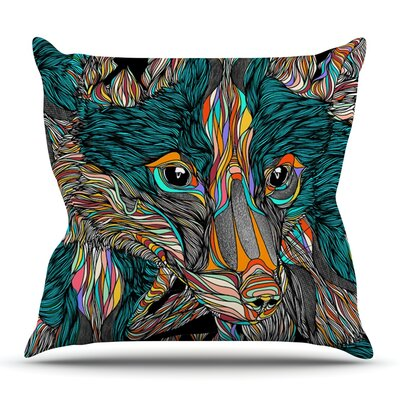 Fox by Danny Ivan Outdoor Throw Pillow