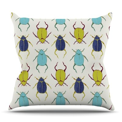 Beetles by Laurie Baars Outdoor Throw Pillow