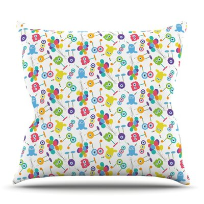 Fun Creatures by Laura Escalante Outdoor Throw Pillow