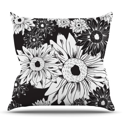Midnight Florals by Laura Escalante Outdoor Throw Pillow