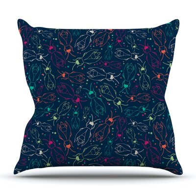 Fireflies Midnight Garden by Laura Escalante Outdoor Throw Pillow