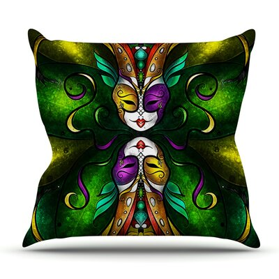 Topsy Turvy by Mandie Manzano Outdoor Throw Pillow