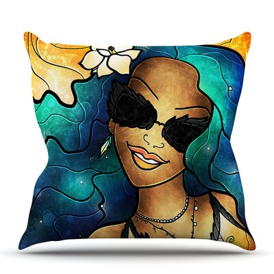 Let The Good Times Roll by Mandie Manzano Outdoor Throw Pillow