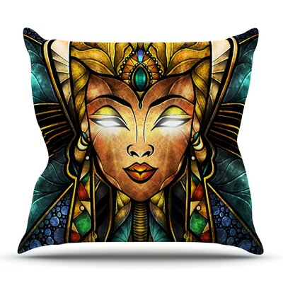 Nefertari by Mandie Manzano Outdoor Throw Pillow