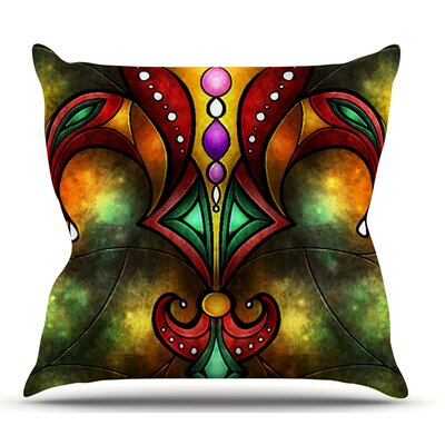 Fleur De Lis by Mandie Manzano Outdoor Throw Pillow