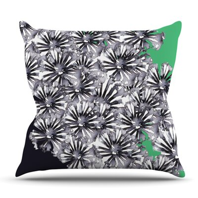 Flowers by Sonal Nathwani Outdoor Throw Pillow