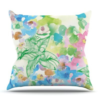 Leaf Bouquet by Sonal Nathwani Outdoor Throw Pillow