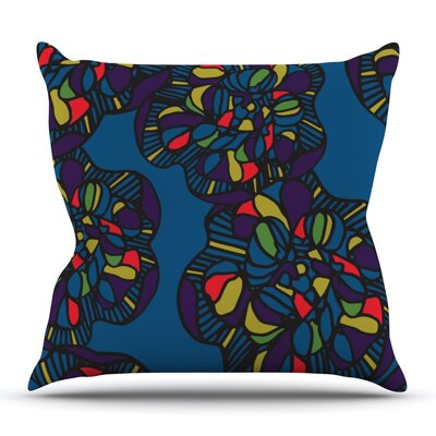 Mushroom Flower by Sonal Nathwani Outdoor Throw Pillow