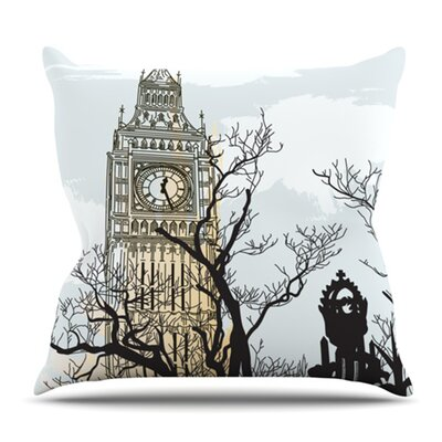 Big Ben by Sam Posnick Outdoor Throw Pillow