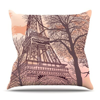 Eiffel Tower by Sam Posnick Outdoor Throw Pillow