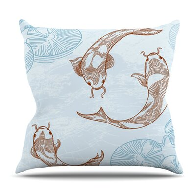 Koi by Sam Posnick Outdoor Throw Pillow