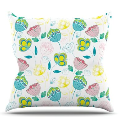 Indie Floral by Anneline Sophia Outdoor Throw Pillow