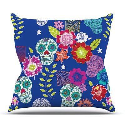 Day of the Dead by Anneline Sophia Outdoor Throw Pillow