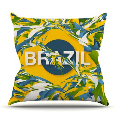 Brazil by Danny Ivan Outdoor Throw Pillow