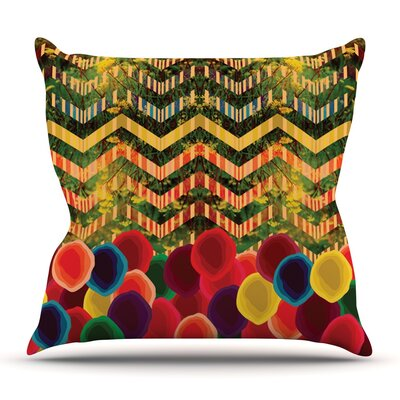 Chevron and Dots by Deepti Munshaw Outdoor Throw Pillow