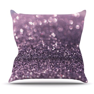 Lavender Sparkle by Debbra Obertanec Outdoor Throw Pillow