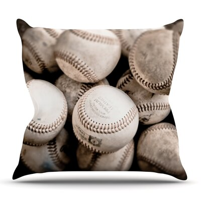 On the Mound by Debbra Obertanec Outdoor Throw Pillow