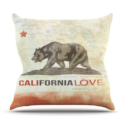 Cali Love by iRuz33 Outdoor Throw Pillow