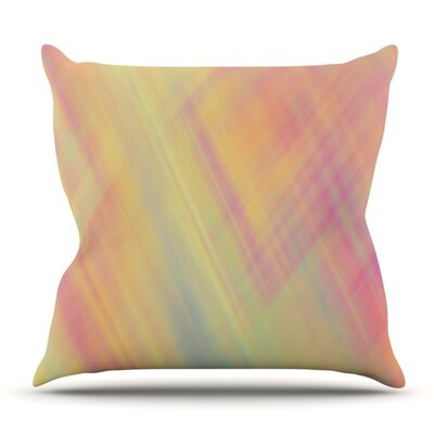 Pastel Abstract by Ingrid Beddoes Outdoor Throw Pillow