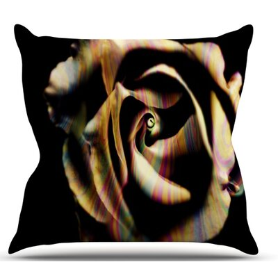 Rose Swirl by Ingrid Beddoes Outdoor Throw Pillow
