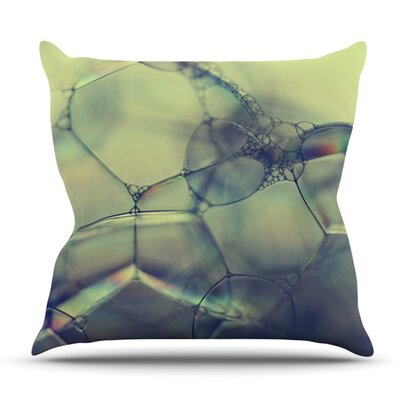Bubblicious by Ingrid Beddoes Outdoor Throw Pillow